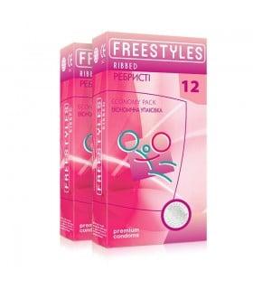 Презервативы ребристые, латексные, 0.06 мм, 12шт - No Taboo