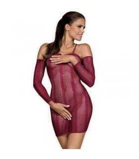 Платье сексуальное, сетка, красное, one size - No Taboo
