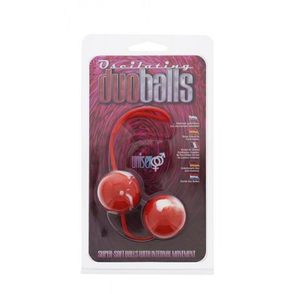 Вагинальные шарики красные Marbelized DUO BALLS (5400)