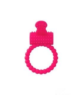 Эрекционное кольцо на пенис Toyfa A-Toys, розовое с вибрирующим язычком - No Taboo