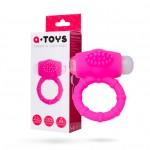Ерекційне кільце на пеніс з вібрацією Toyfa A-Toys, рожевий