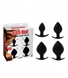 Набор гигантских анальных пробок Chisa черные - No Taboo
