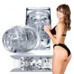 Мастурбатор реалистичный Riley Reid с 2 отверстиями, в колбе, прозрачный, 9 см х 6.5 см