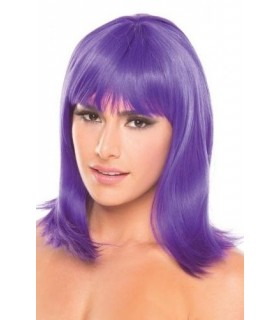 Перука з чубчиком Doll Wig, середньої довжини, фіолетовий - No Taboo