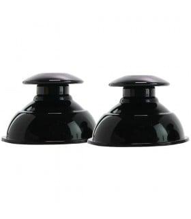 Помпы для сосков, силиконовые, черные, 2.5 х 2.5 см - No Taboo