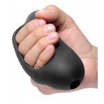 Мастурбатор эластичный, хай-тек, черный, 12.7 х 5 см