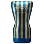 Мастурбатор хай-тек з м'яким корпусом Tenga, синьо-золотий, 15 х 6 см