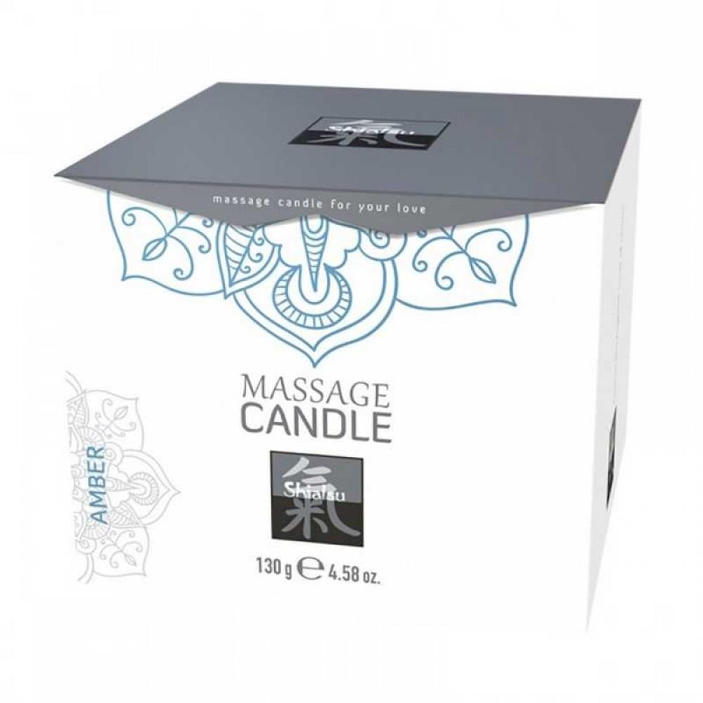 Массажная свеча с ароматом амбры SHIATSU , 130 г (38062), фото 2 — секс шоп Украина, NO TABOO