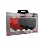 Пэстисы (наклейки на соски) 2 пары в комплекте, красно -черные