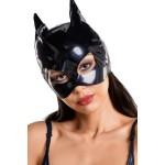 Маска кошки блестящая черного цвета