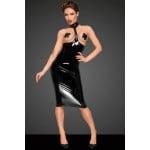 Платье с ошейником и открытой грудью виниловое Noir Handmade S