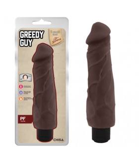 Реалистичный вибратор из киберкожи Greedy Guy Brown - No Taboo