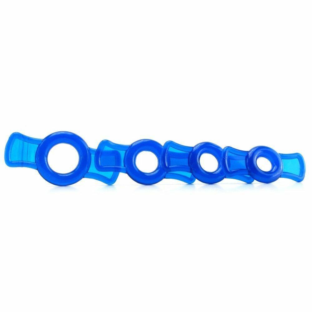 Набор эрекционных колец синего цвета , фото 3