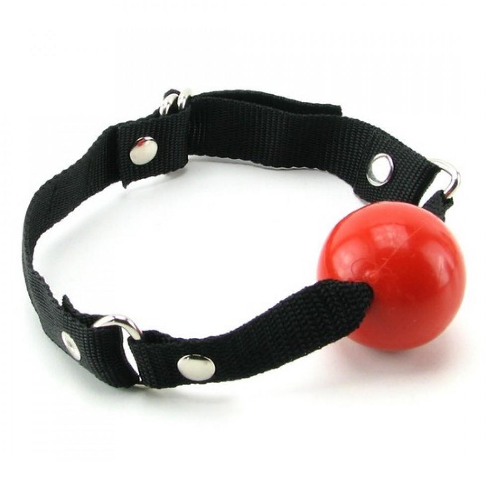 Резиновый кляп-шарик, красный - No Taboo