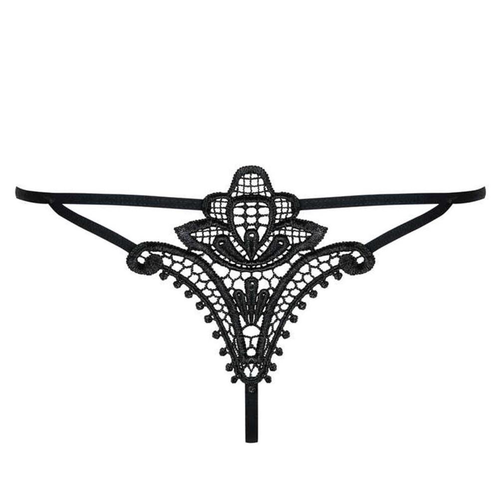 Секси стринги полупрозрачные с кружевом S/M (9548), фото 2 — секс шоп Украина, NO TABOO