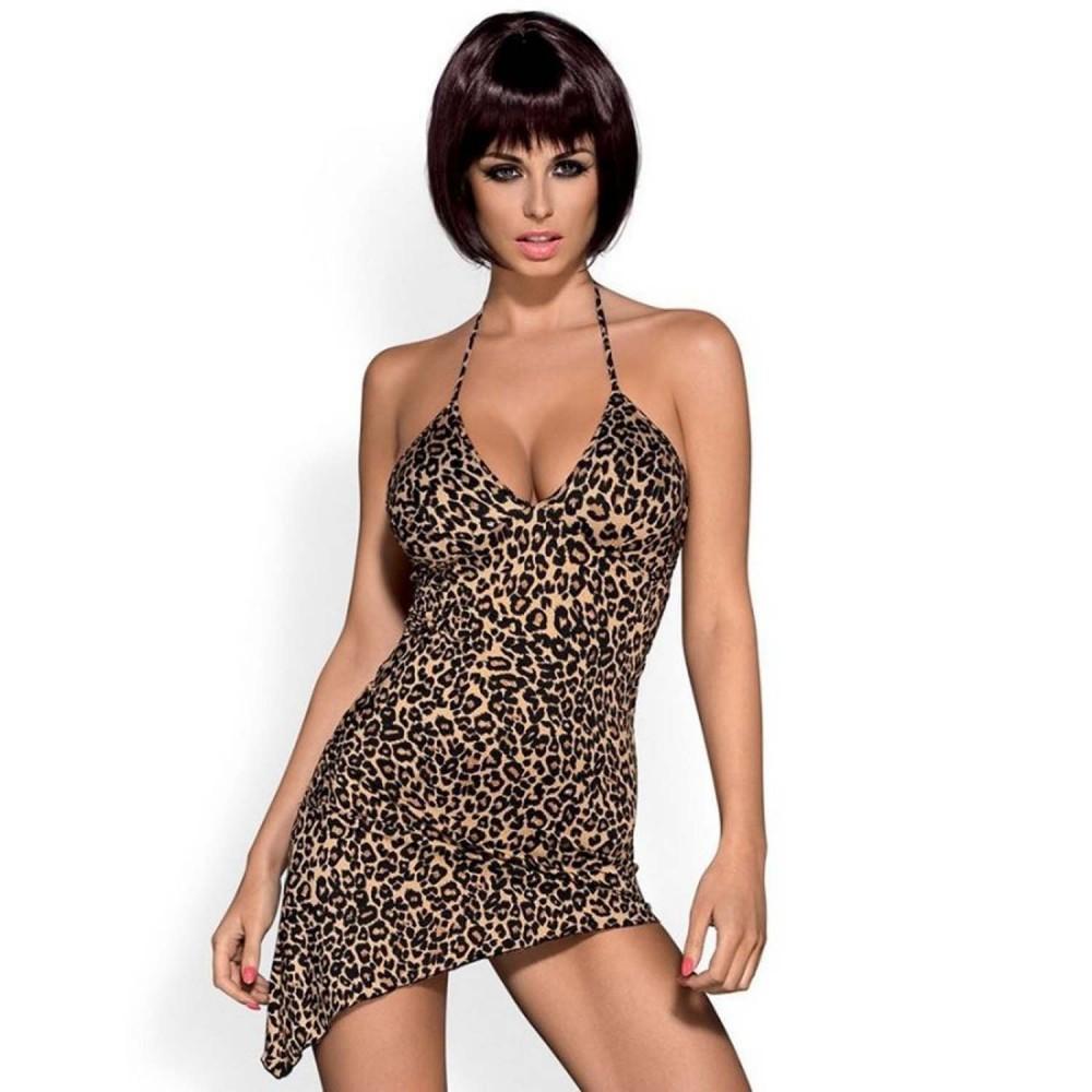 Сексуальное леопардовое платье, S/M (12127)