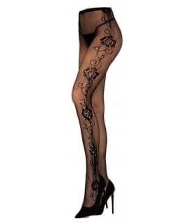 Еротичні колготки в сіточку з квітковим візерунком Livia Corsetti Marciane S-L ( One size) - No Taboo