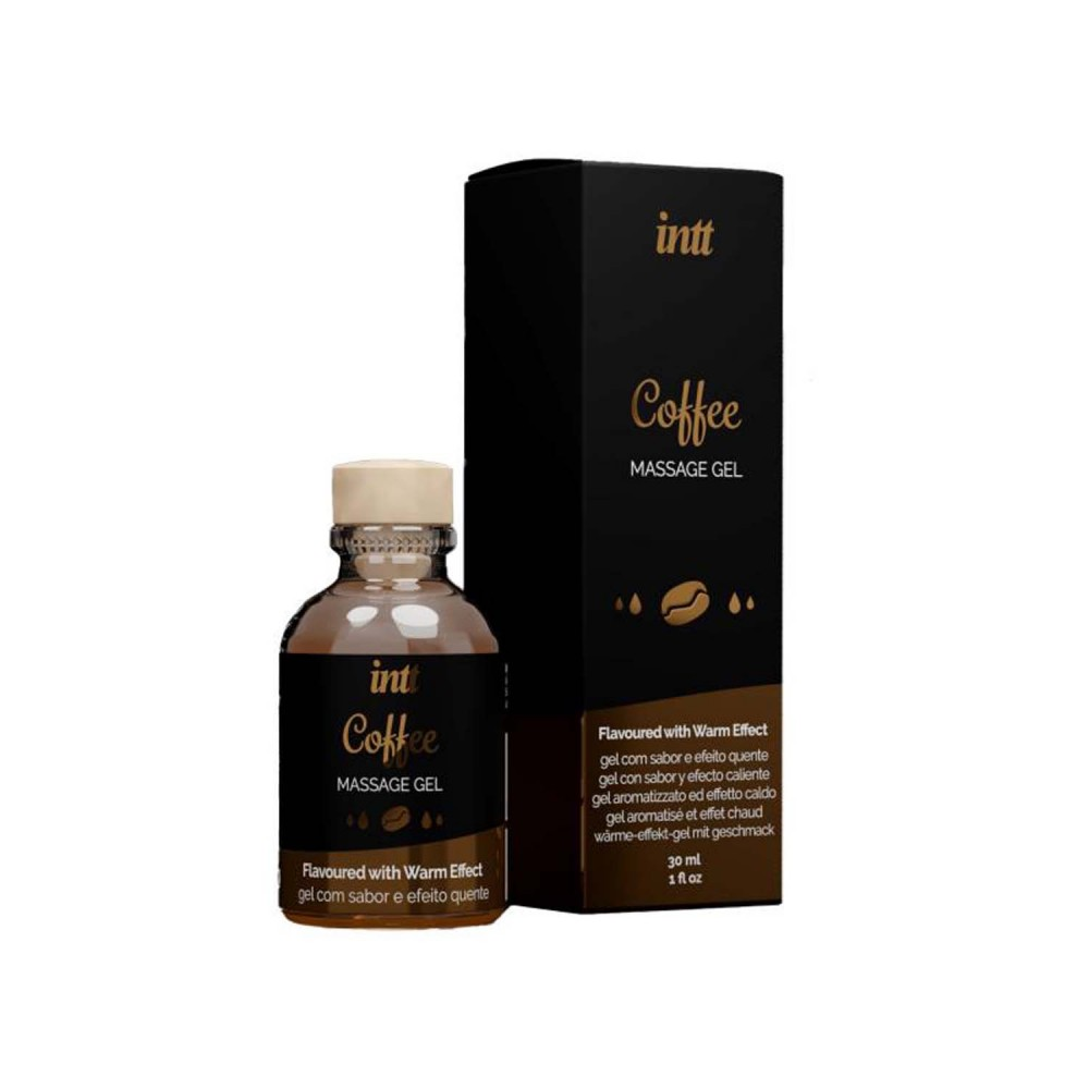 Массажный гель с согревающим эффектом для поцелуев со вкусом Coffee Intt 30 мл (36728), фото 2 — секс шоп Украина, NO TABOO