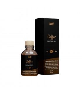 Массажный гель с согревающим эффектом для поцелуев со вкусом Coffee Intt 30 мл - No Taboo