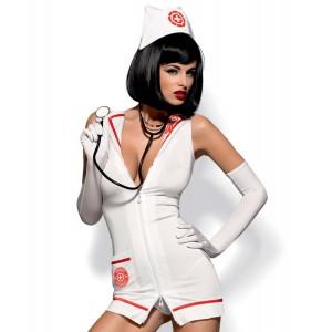 Рольовий костюм медсестри 4 предмети, S / M (9405), zoom