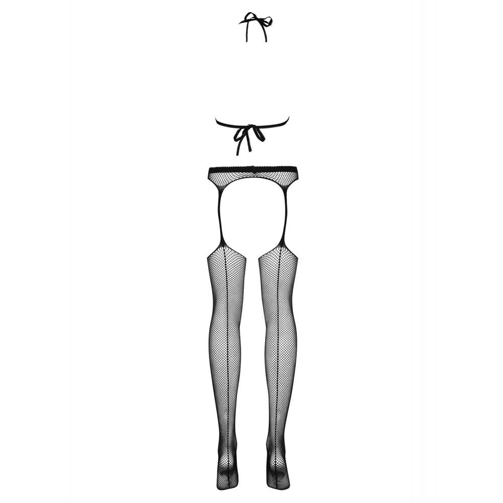 Комбинезон открытый в мелкую сетку, черный, OS (9671)