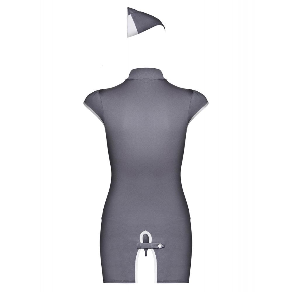Ролевой костюм стюардессы, серый, размер S/M (9515), фото 6 — секс шоп Украина, NO TABOO