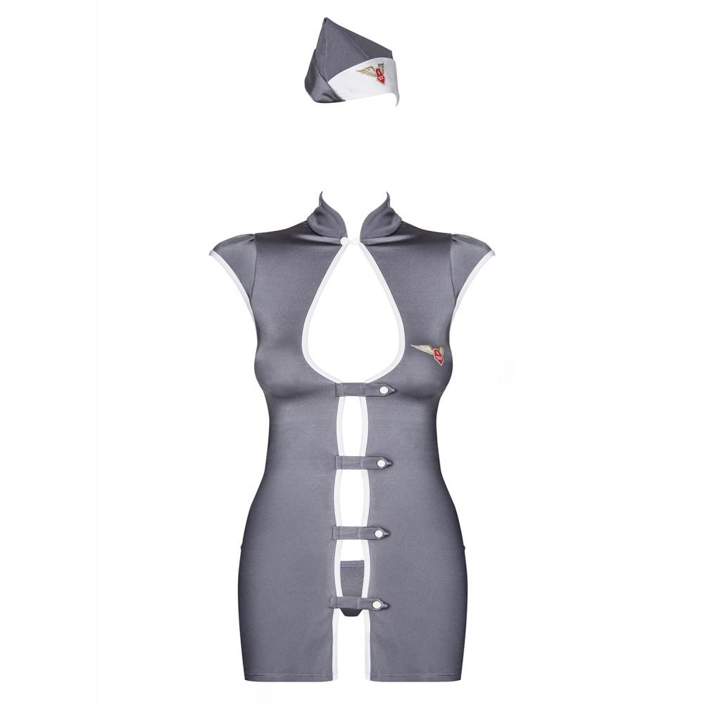 Ролевой костюм стюардессы, серый, размер S/M (9515), фото 5 — секс шоп Украина, NO TABOO