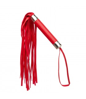 Плетка (флоггер) красная, кожзаменитель, легкая - No Taboo