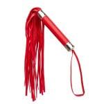 Плетка (флоггер) красная, кожзаменитель, легкая