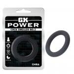 Эрекционное кольцо на член, силиконовое, черное, 4 см