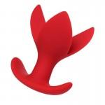 Анальная пробка расширитель 3 лепестка красная ToDo Flower Red Expander Plug