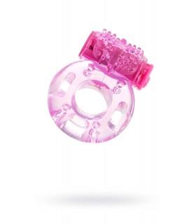 Эрекционное кольцо с вибрацией Erotist, розовое, 1.7 см - No Taboo