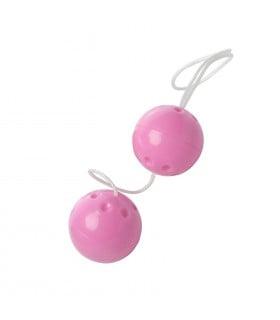 Шарики вагинальные пластиковые, розовые YAM BALLS - No Taboo