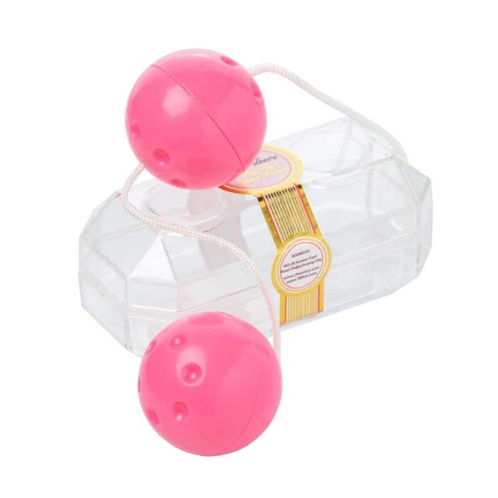 Вагинальные шарики розовые YAM BALLS (31971)