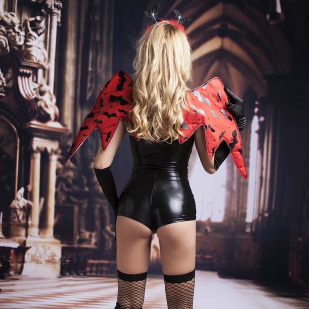 Костюм сексуального дьявола 5 предметов черный S/M - No Taboo