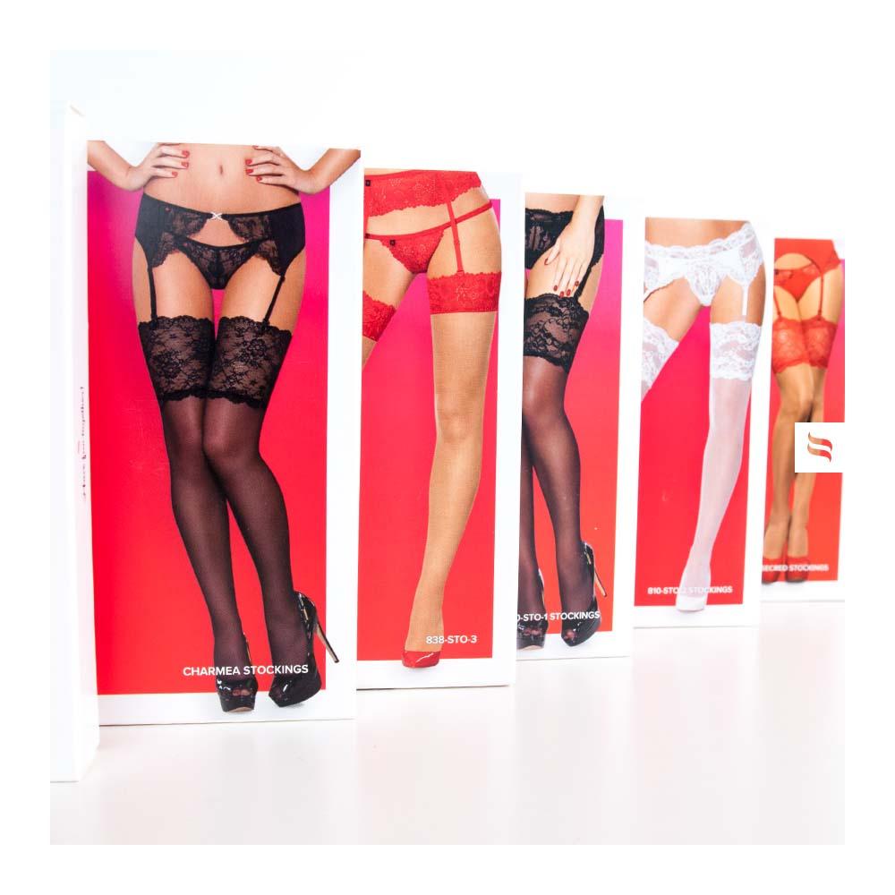 Пояс для чулок с декоративными резинками, со стрингами черный, размер S/M (34642), фото 14 — секс шоп Украина, NO TABOO