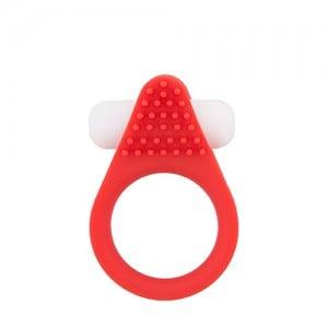 Ерекційне кільце Dream Toys з рельєфним виступом, червоне (33067), zoom