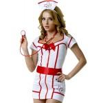 Костюм медсестри білий халат на блискавці 5 предметів LeFrivole S\M