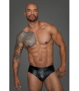 Плавки виниловые сексуальные, черные, Noir Handmade, размер S - No Taboo