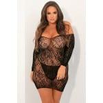 Платье с открытыми плечами SEDUCTIVE BLACK, XL/2XL