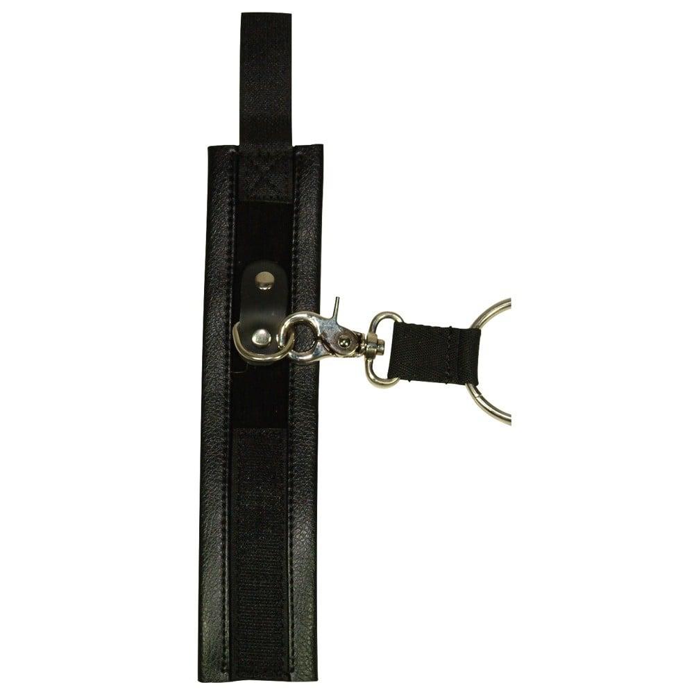 Перекрестный бондаж на руки и ноги, черный (13757)