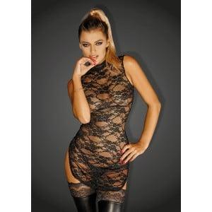 Платье эротическое из гипюра черное Noir Handmade M (37376), zoom