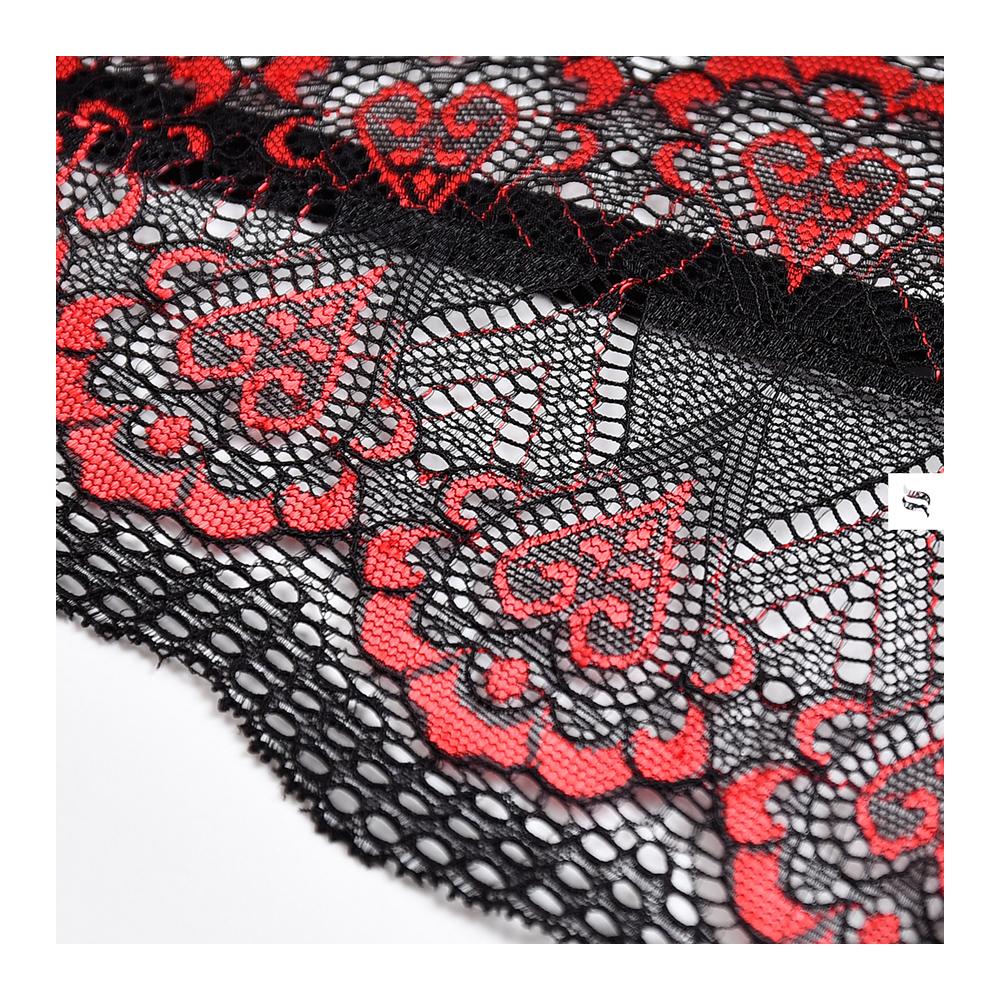 Боди эротический черный с красной вышивкой S/M (37411), фото 8 — секс шоп Украина, NO TABOO