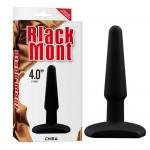 Анальная пробка Black Mont силиконовая, черная