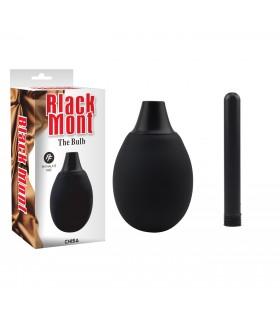 Анальный душ с пластиковой насадкой Mont black - No Taboo