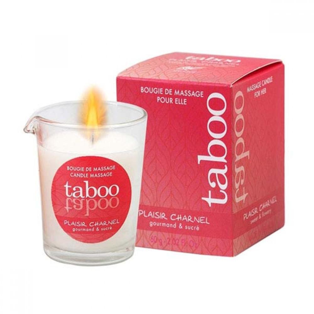 Массажная свеча со сладким цветочным ароматом Taboo (33213), фото 3 — секс шоп Украина, NO TABOO
