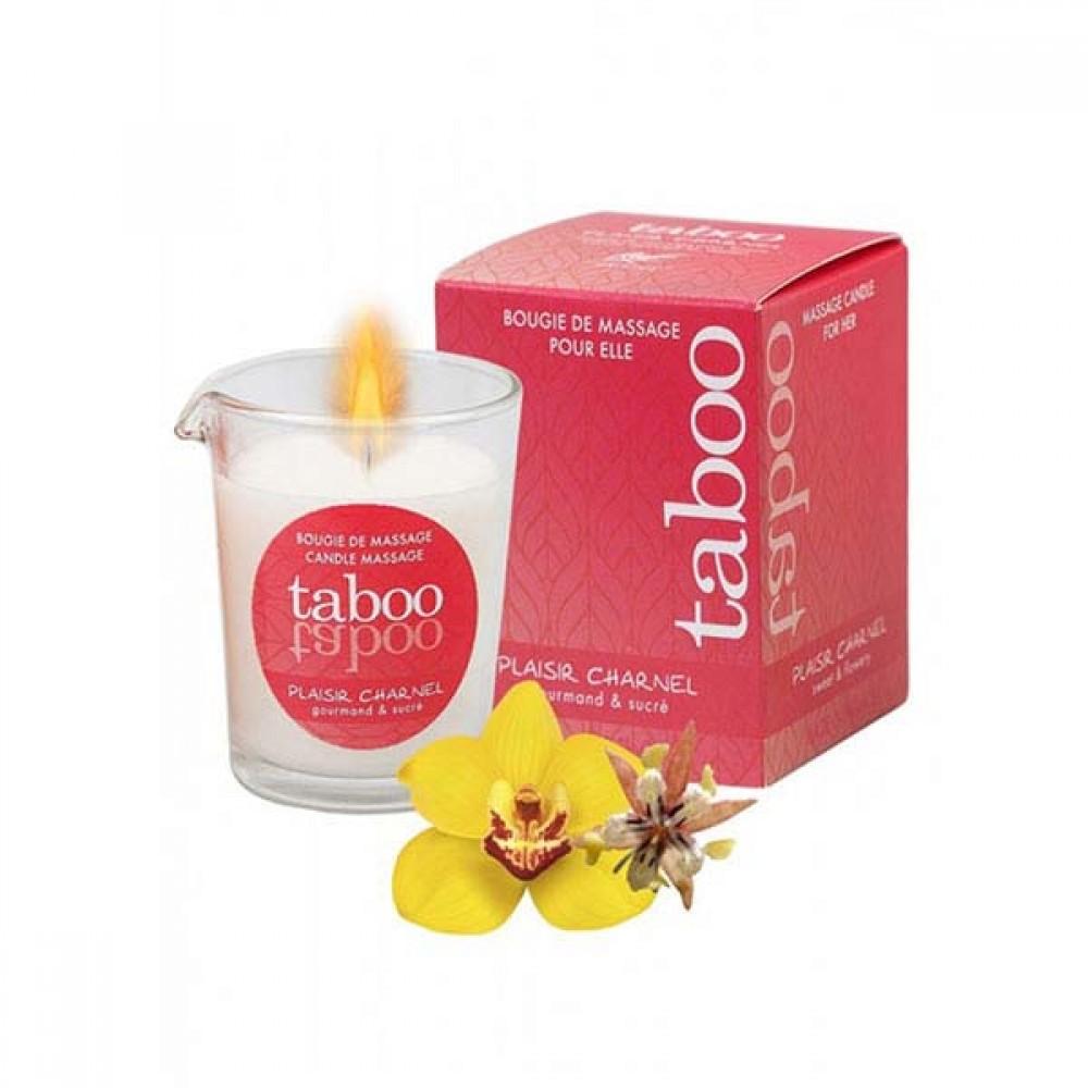 Массажная свеча со сладким цветочным ароматом Taboo (33213), фото 2 — секс шоп Украина, NO TABOO