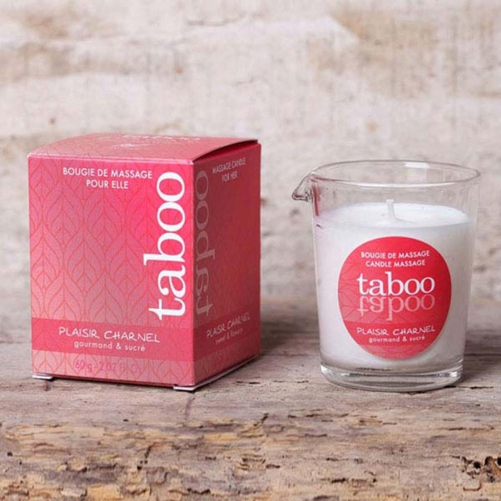 Массажная свеча со сладким цветочным ароматом Taboo (33213), фото 5 — секс шоп Украина, NO TABOO