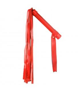 Плетка без заклепок с лаковой лапшой красная NO TABOO - No Taboo