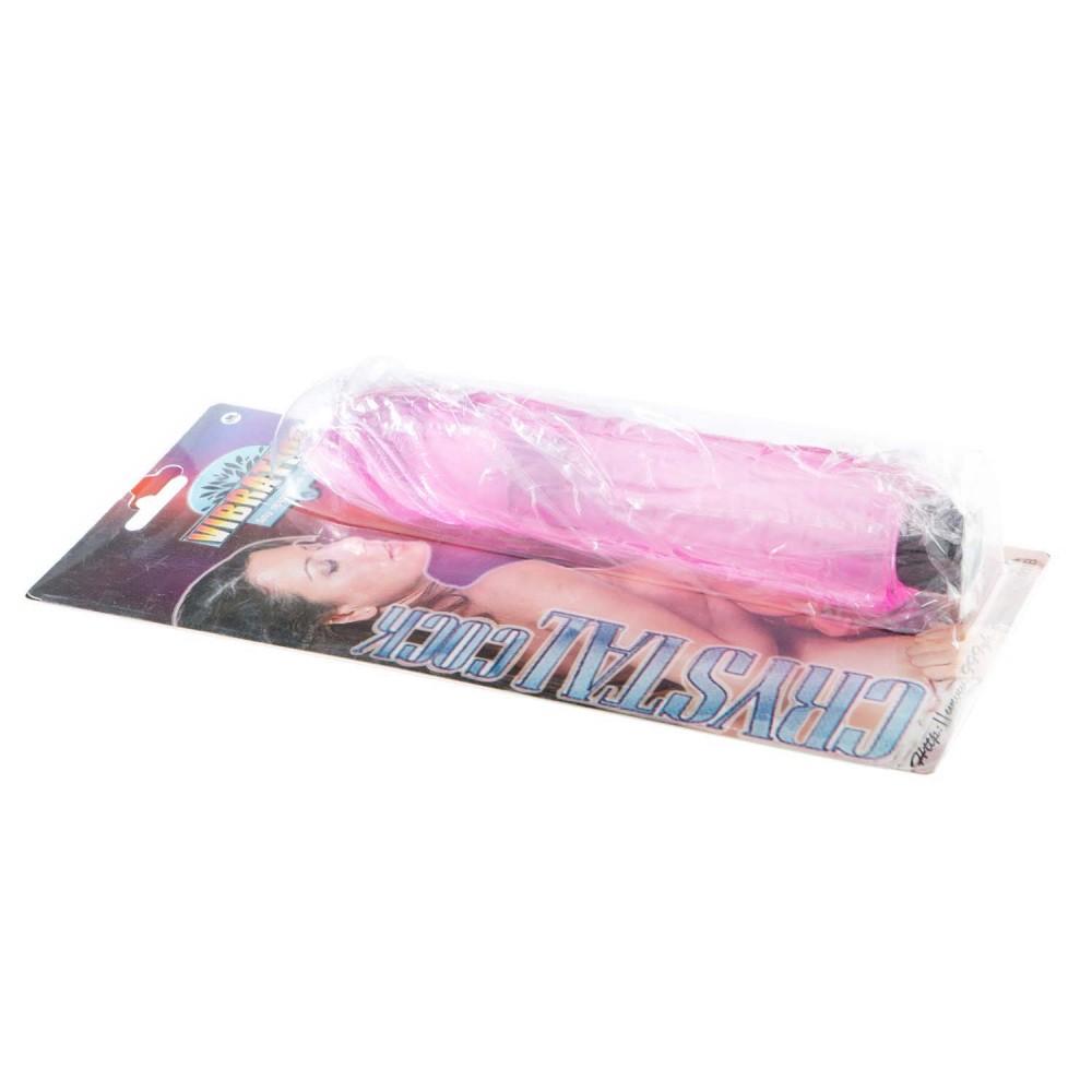 Вибратор розовый гель Cristal cock (31882), фото 6 — секс шоп Украина, NO TABOO